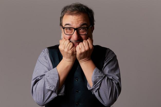 Homme Adulte En Colère Devient Fou Photo Premium