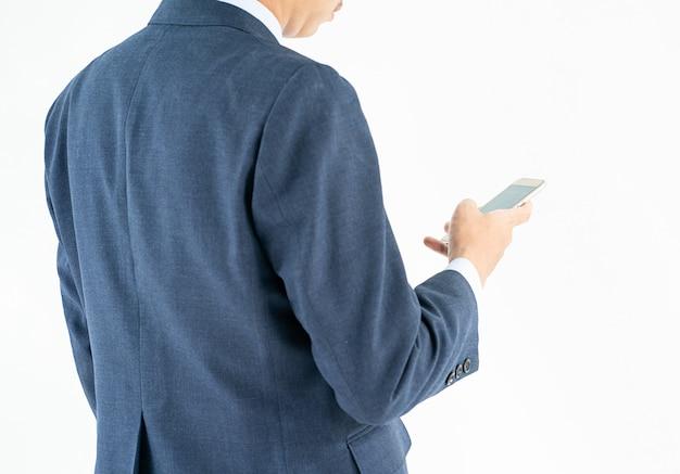 Homme Affaires, Complet, Tenue, Smartphone Photo Premium