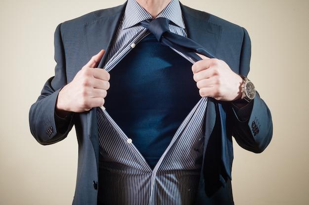 Homme d'affaires de super-héros Photo Premium