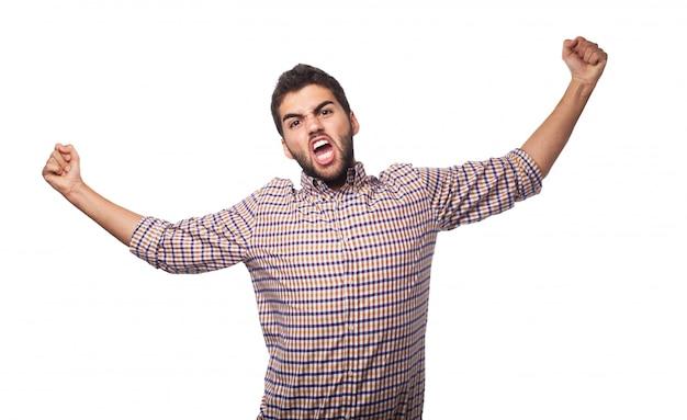 Homme Arabe Exprimant Le Mécontentement. Photo gratuit