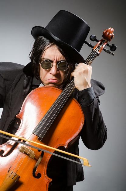 Homme au concept d'art musical Photo Premium