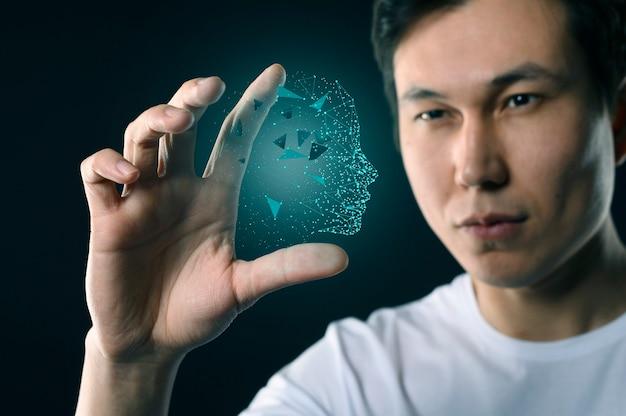 Homme Avec Avatar D'interface Photo Premium