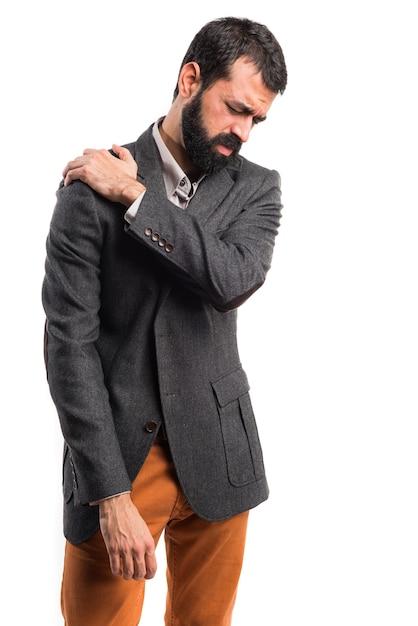 Homme Avec Douleur à L'épaule Photo gratuit