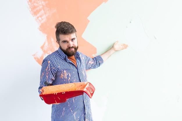 Homme Drôle Peinture Mur Intérieur De La Maison Photo Premium