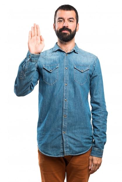 Homme faisant serment Photo gratuit