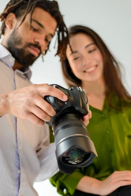 Homme Femme, Regarder Photos Photo gratuit
