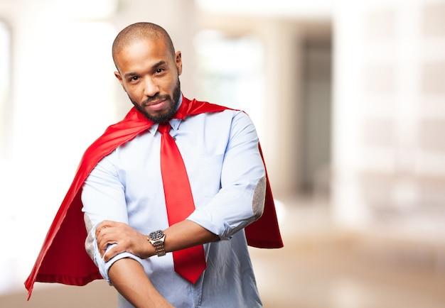 Homme noir héros expression de colère Photo gratuit