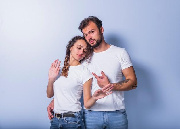 Homme, pointage, femme Photo gratuit