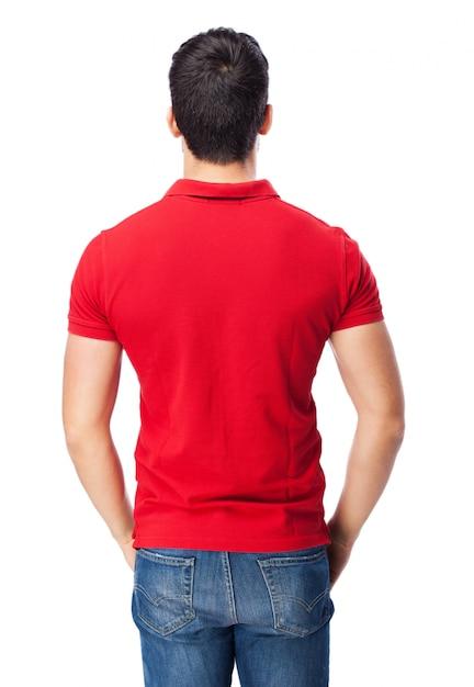 Homme Avec Un Pôle Rouge Photo gratuit