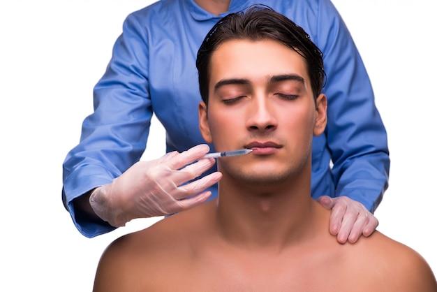 Homme recevant une injection Photo Premium