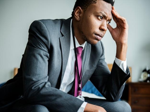 Un homme stressant Photo Premium
