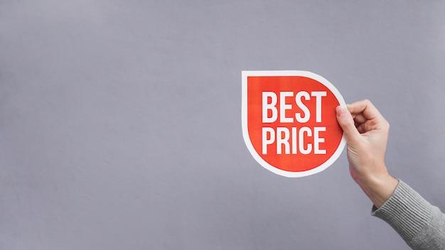 Homme Tenant Une Pancarte Rouge Photo Premium