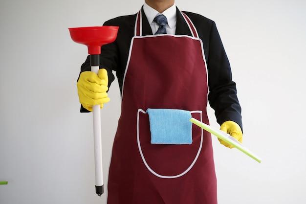Hommes d'affaires qui doivent travailler seuls à la maison Photo Premium