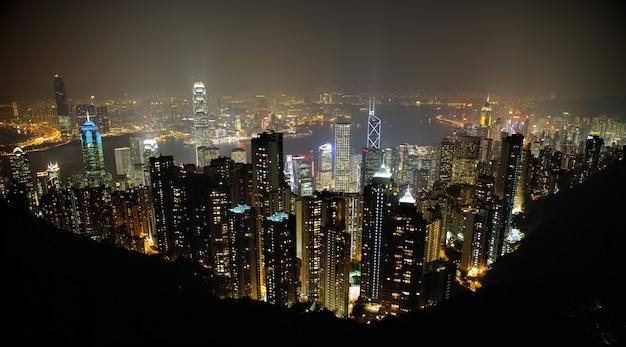 Hong Kong De Nuit Photo Premium