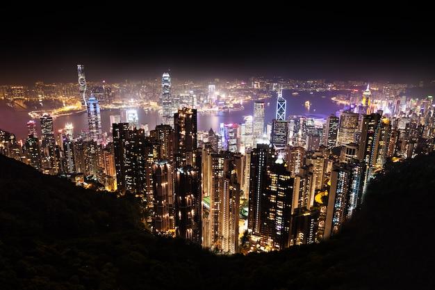 Hong kong la nuit Photo Premium