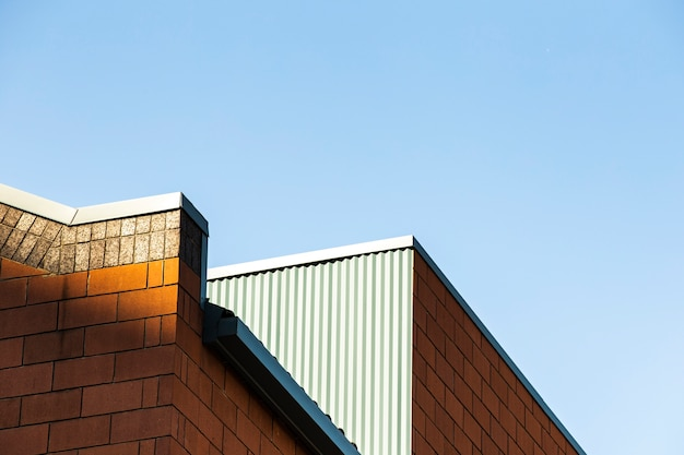 Horizon de bâtiment en brique moderne Photo gratuit