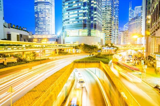 Horizon crépuscule ville voiture kong Photo gratuit