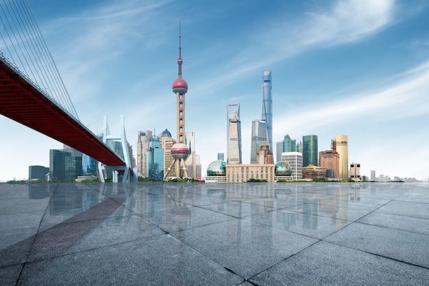 Horizon de la métropole moderne, shanghai, chine, panorama de shanghai. Photo Premium