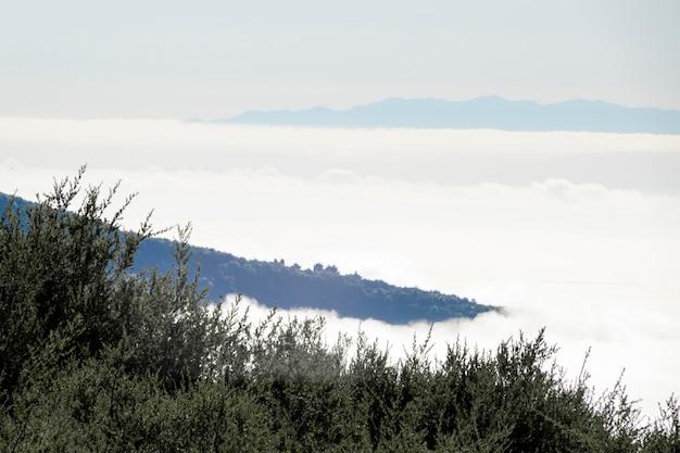 Horizon De Montagne Au-dessus Des Nuages Photo gratuit