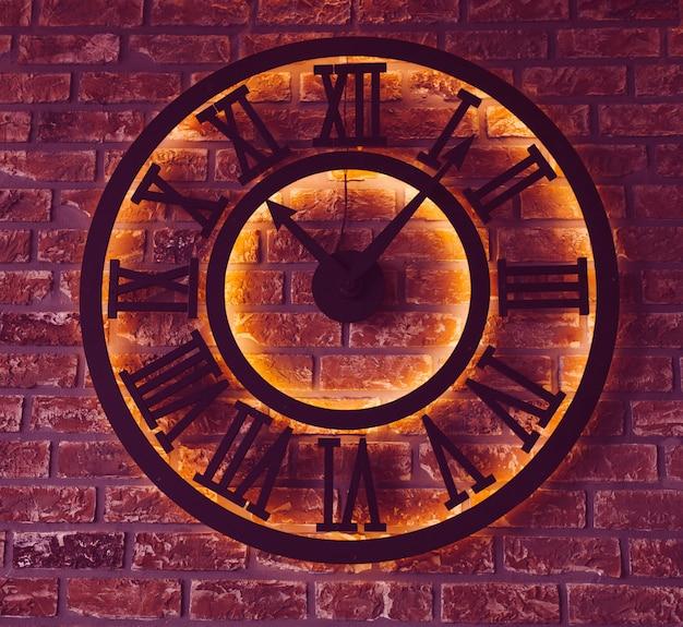 Horloge Lumineuse Noire Photo Premium