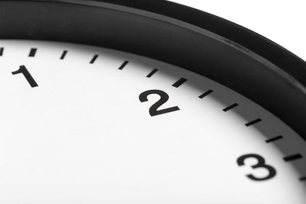 Horloge Murale Ronde Classique Noir Et Blanc Simple Photo Premium