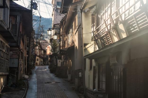 Hôtel de source chaude à shibu onsen Photo Premium
