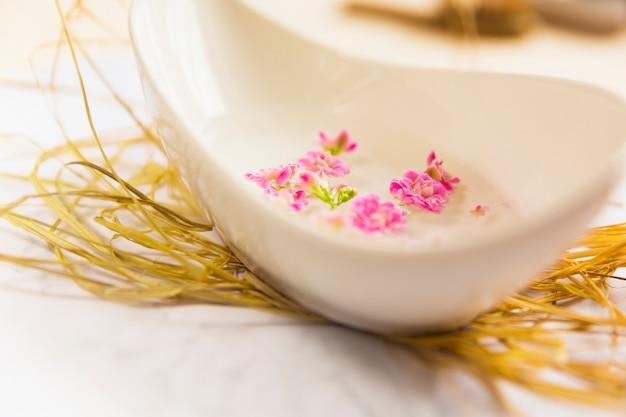 Huile essentielle pour l'aromathérapie dans un bol Photo gratuit