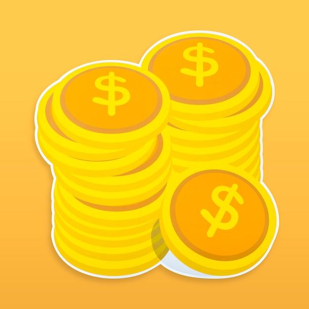 Icône d'argent isolé Photo gratuit