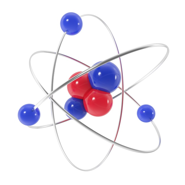 Icône de l'atome isolé Photo Premium