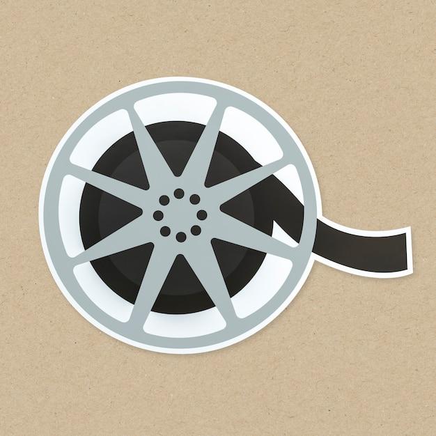 Icône de bobine de film isolé Photo gratuit