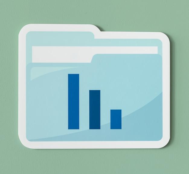 Icône du dossier rapport d'analyse commerciale Photo gratuit