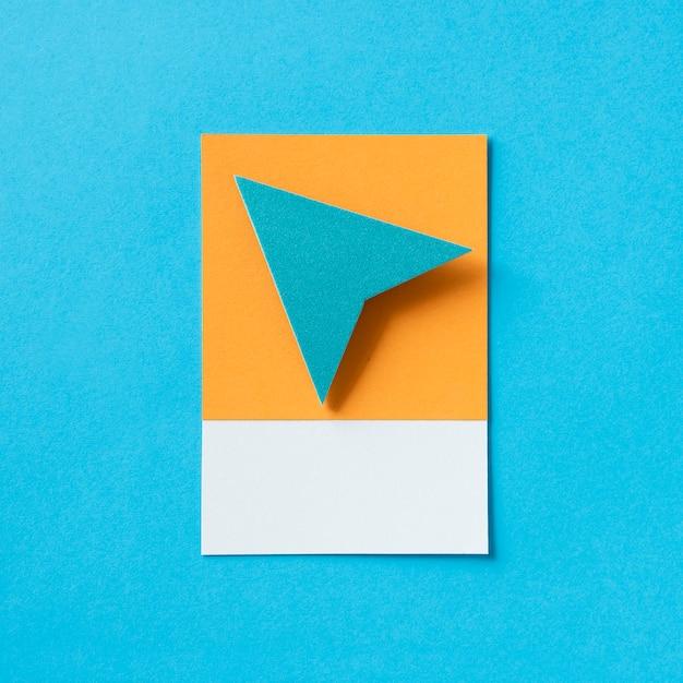 Icône de flèche triangle papier avion Photo Premium