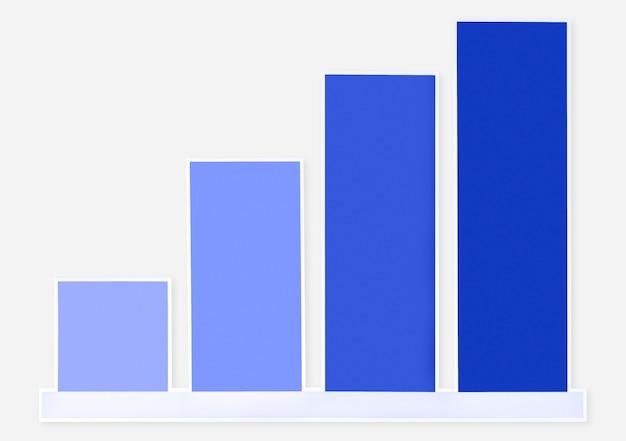Icône de graphique de croissance coloré isolé Photo gratuit