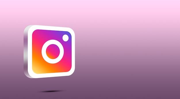 Icône Instagram 3d Photo Premium