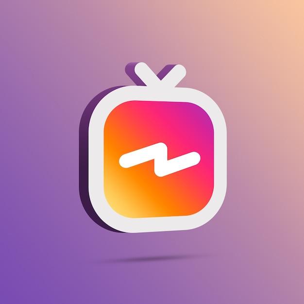 Icône Instagram Igtv 3d Photo Premium