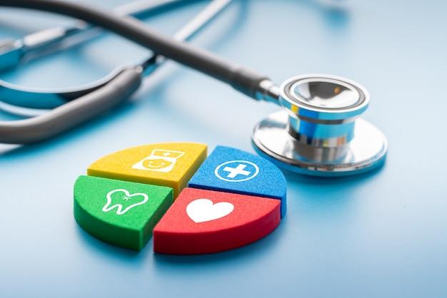 Icône médicale sur puzzle Photo Premium