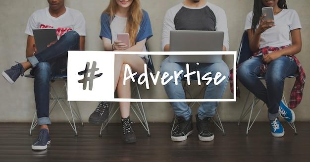 Icône de publicité publicitaire Photo gratuit