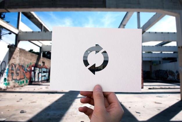 Icône de rafraîchissement rechargement du papier perforé Photo gratuit