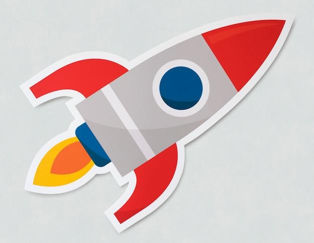 Icône de symbole de lancement de fusée Photo gratuit