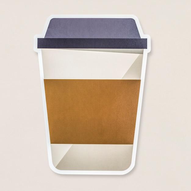 Icône de tasse de boissons chaudes à emporter isolé Photo gratuit