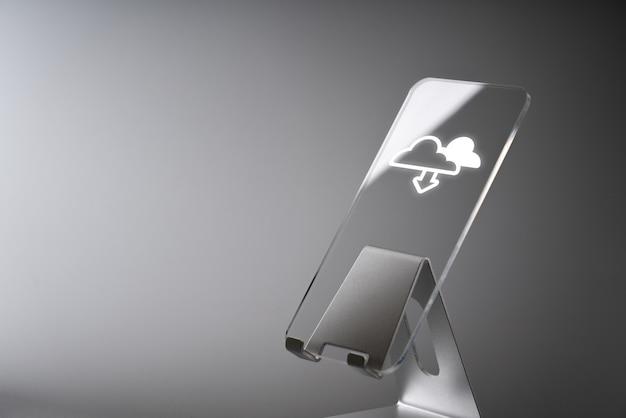 Icône De La Technologie Cloud Pour Le Concept Commercial Global Photo Premium