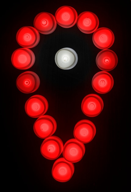 Icône de vérification des lumières rouges Photo gratuit