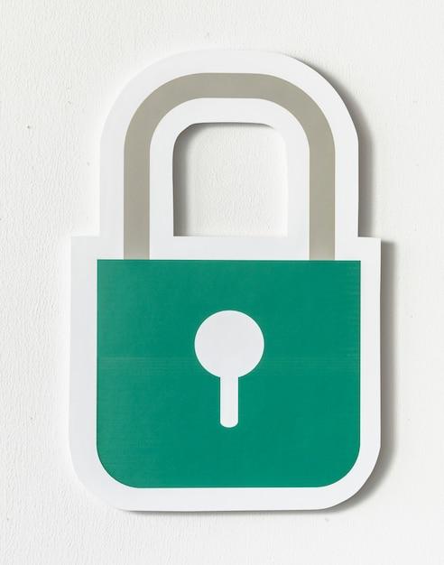 Icône de verrouillage de sécurité de confidentialité Photo gratuit