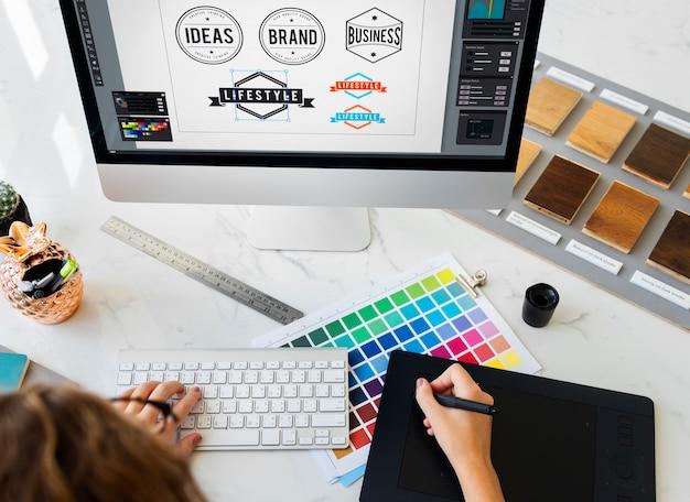 Idée Création Métier Design Studio De Dessin Concept De Démarrage Photo Premium