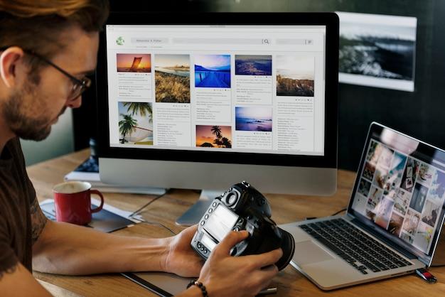 Idées de photographie créative occupation studio de design concept Photo Premium