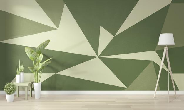 Idées De Vie Chambre Verte Mur Géométrique Art Peinture