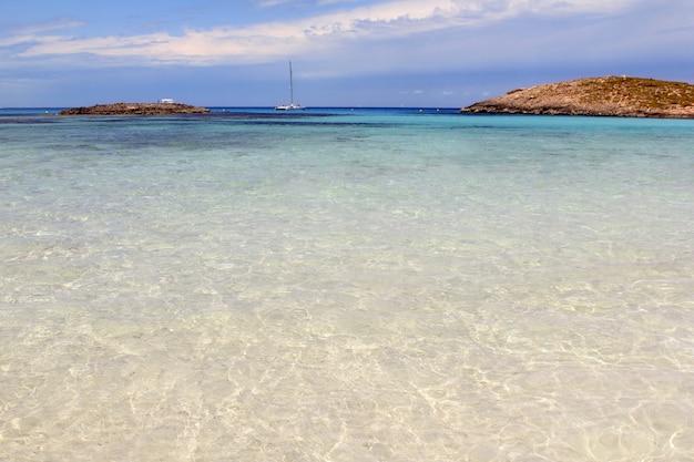 Illetes îles de la plage formentera baléares Photo Premium