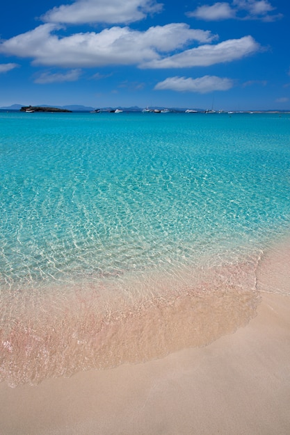 Illetes illetas beach à formentera, iles baléares Photo Premium