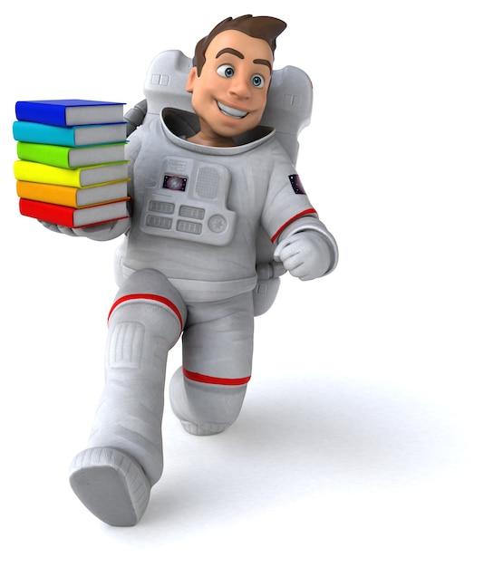 Illustration 3d Amusante De L'astronaute Photo Premium