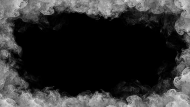 Illustration 3d de fumée cadre Photo Premium